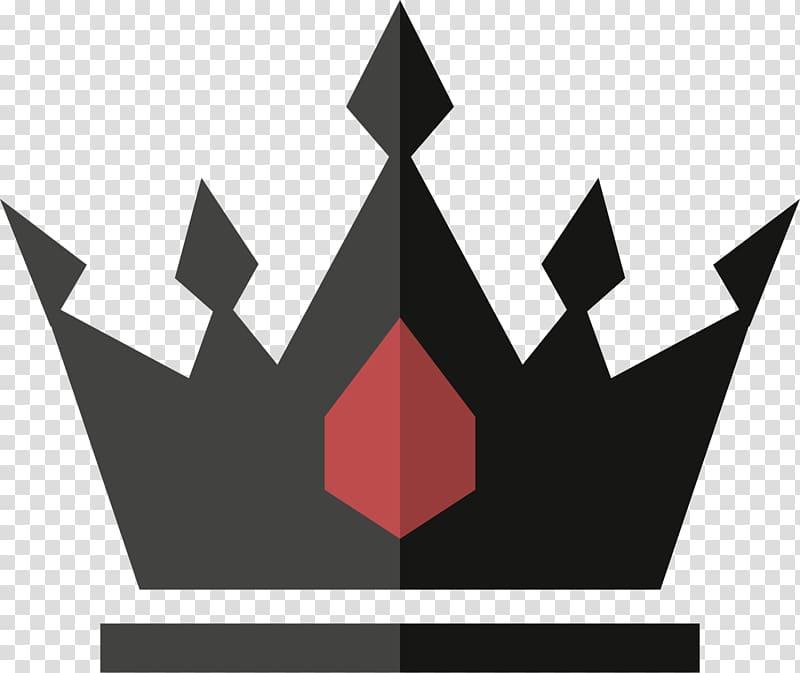 Red and black crown , Black Crown Icon, Black crown.