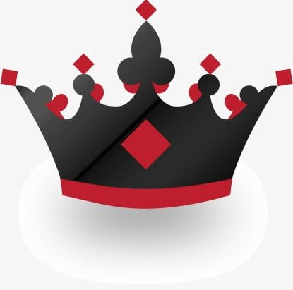 Creative Black And Red Crown PNG, Clipart, Black, Black And.