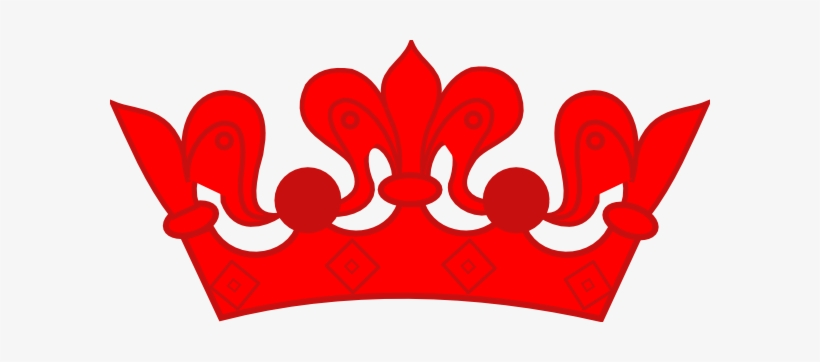 Red Clipart Princess Crown.