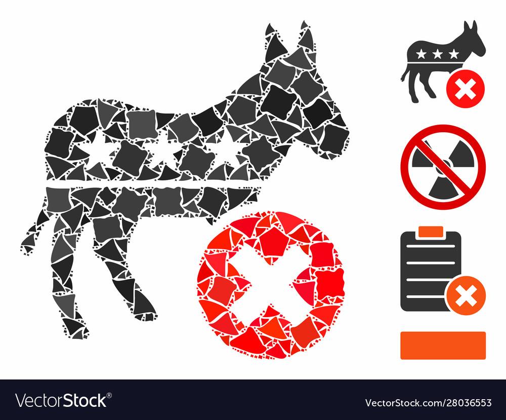 Reject democrat donkey mosaic icon tremulant.