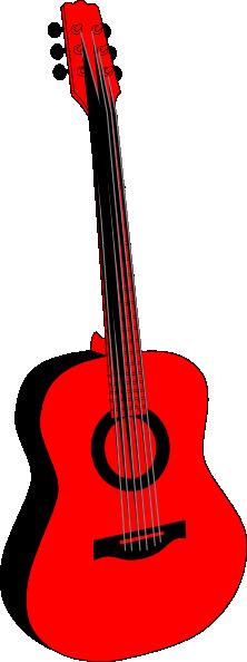 Red And Black Guitar Clip Art at Clker.com.