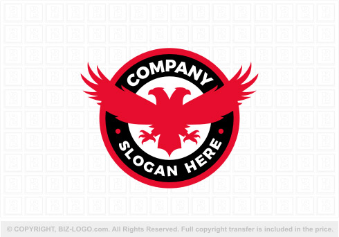 REd and Black Eagle Logo.