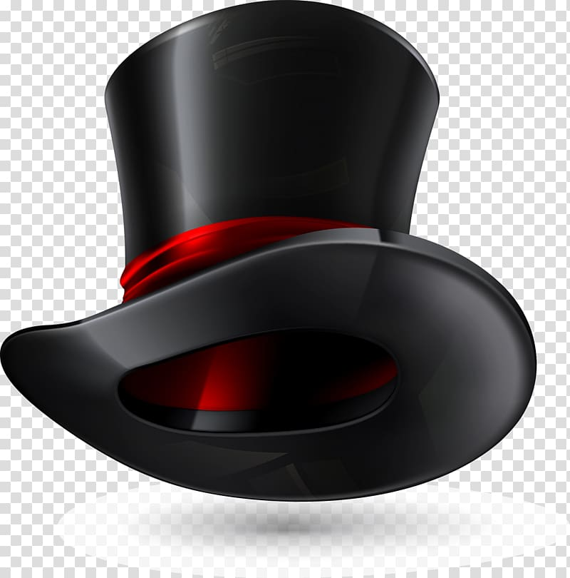 Black and red tap hat , Hat.