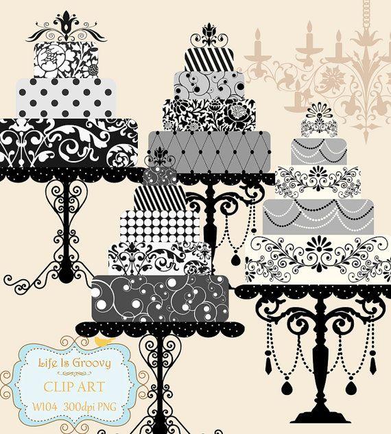 elegant black white silver grey wedding cakes set of 4 large.