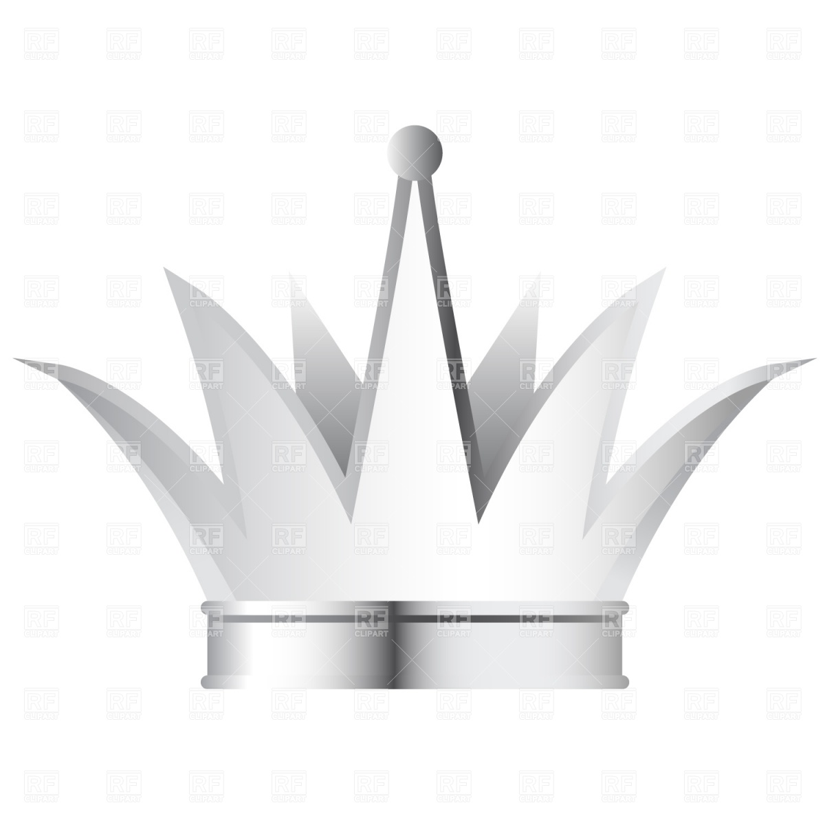 Silver Crown Clipart.