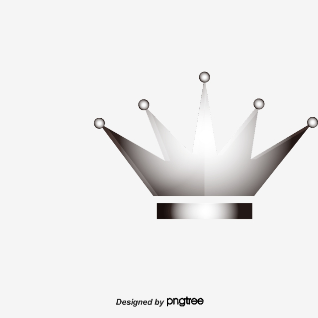 Vector Silver Crown Material, Crown Vector, Crown Clipart.
