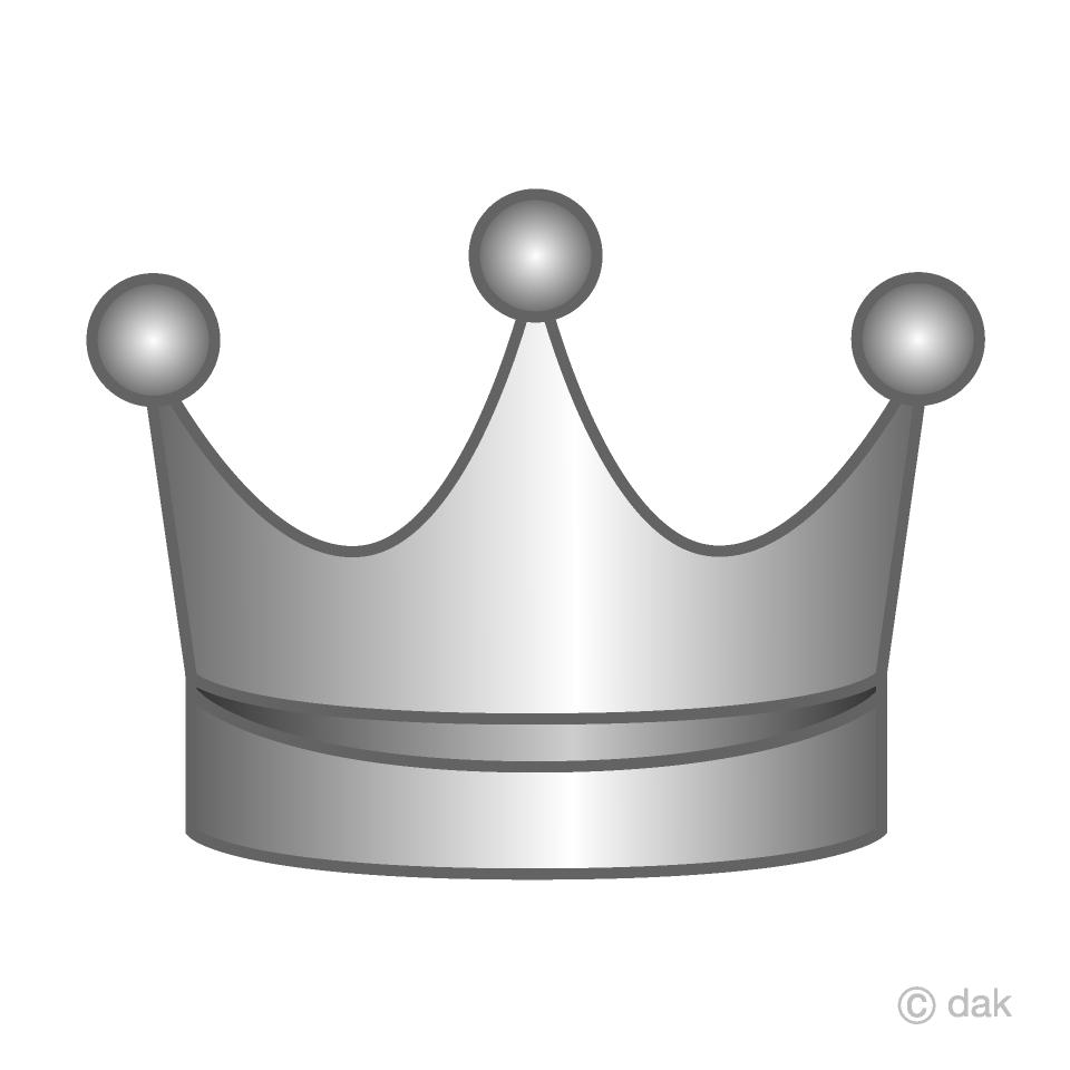Free Simple Silver Crown Image Illustoon.