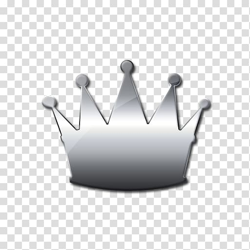 Crown Computer Icons Silver , crown transparent background.