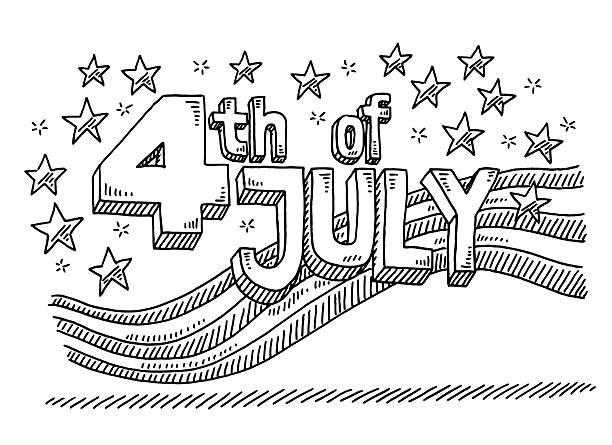 Best Black And White American Flag Illustrations, Royalty.