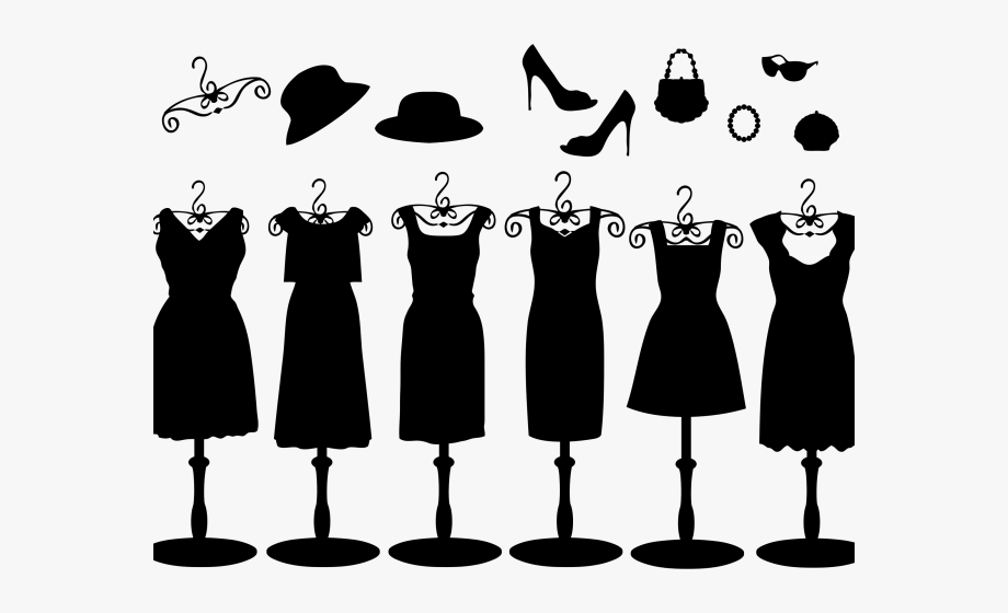Black Dress Clipart Accessories.