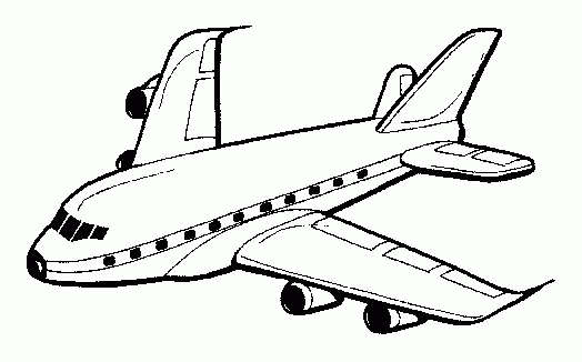 Jet Airplane Clipart Black And White Takeoff.
