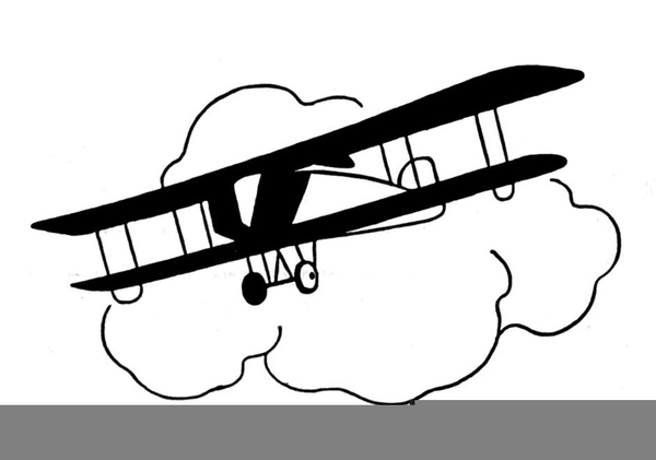 Airplane Clipart Black And White.