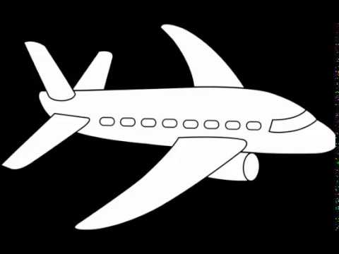 plane clipart black and white.