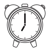 black and white alarm clock clipart #20