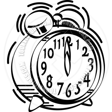 Alarm Clock Clipart Black And White.