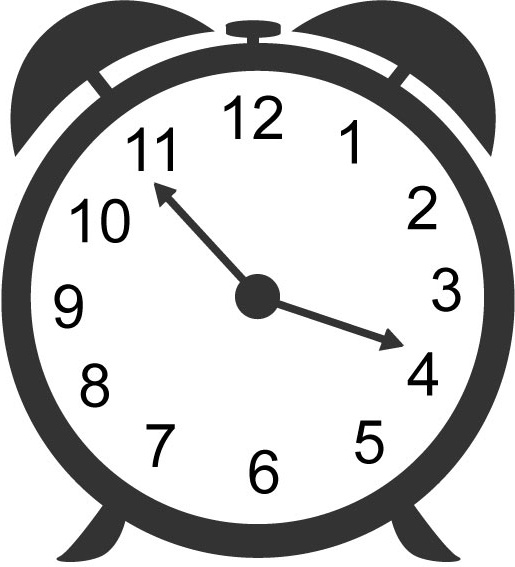 Black And White Alarm Clock Clipart Clipground