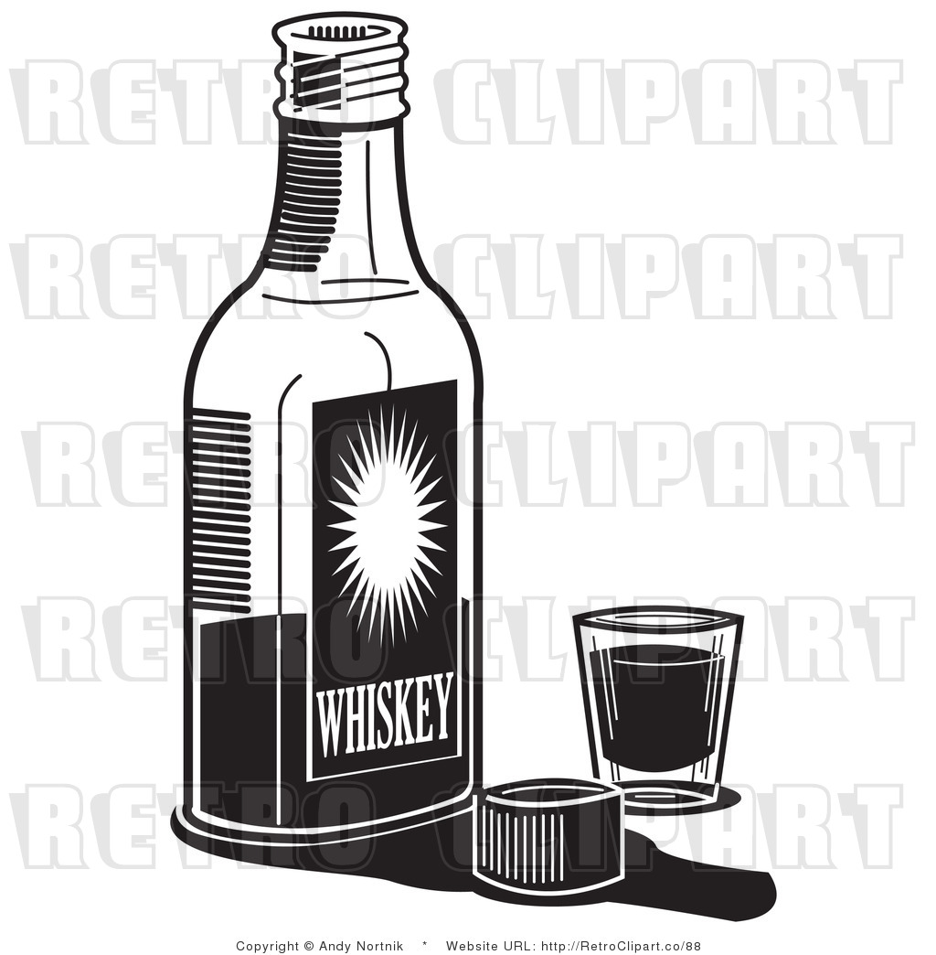 Alcohol Bottle Clipart Black And White.