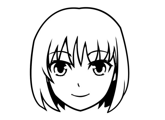 Step by Step: Drawing Cute Anime Girl Face.