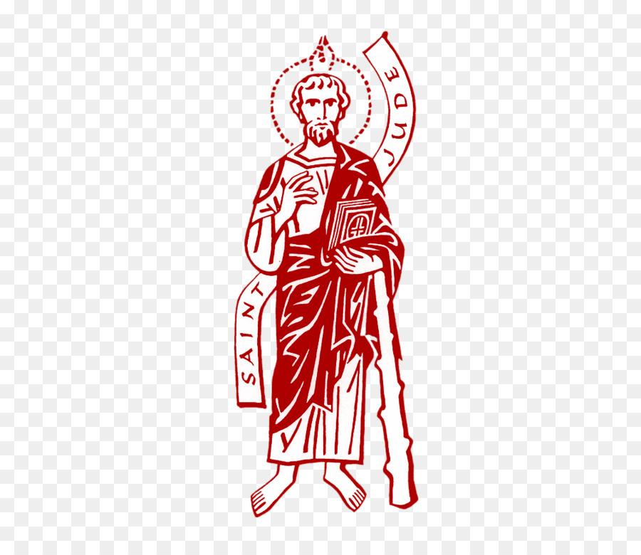 Black and white Apostles Saint Image Clip art.