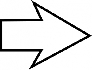 Arrow clipart black and white, Arrow black and white.
