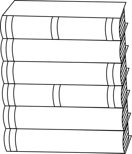 Black and White Stack of Books.