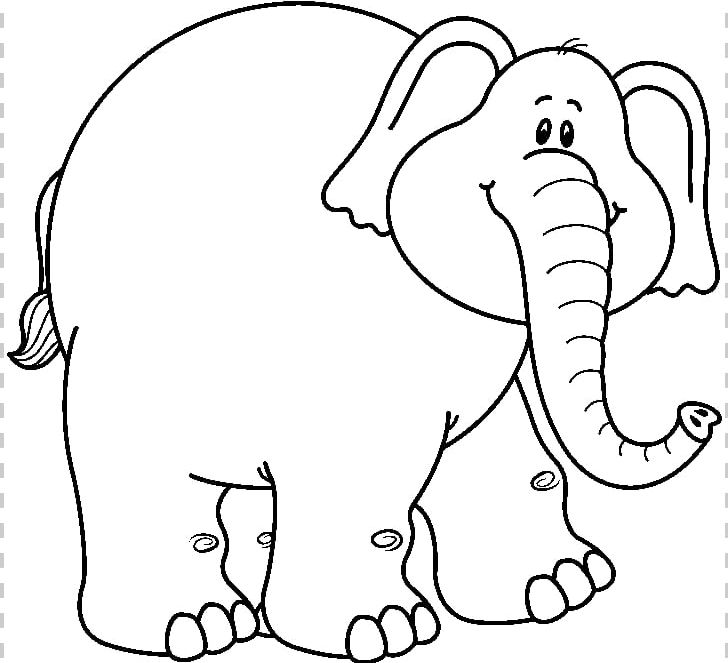 Asian Elephant Black And White PNG, Clipart, Area, Art.