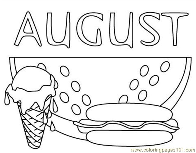 August Clipart Black And White.