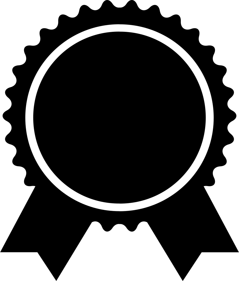 Award Badge Of Circular Shape With Ribbon Tails Svg.