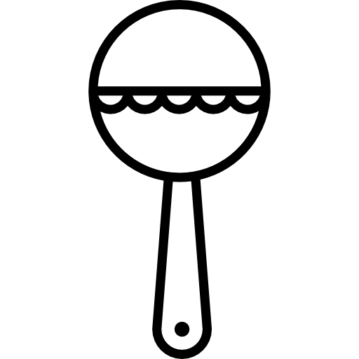 Baby rattle clipart black and white 3 » Clipart Station.
