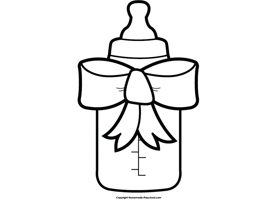 Baby shower clipart black and white 1 » Clipart Station.