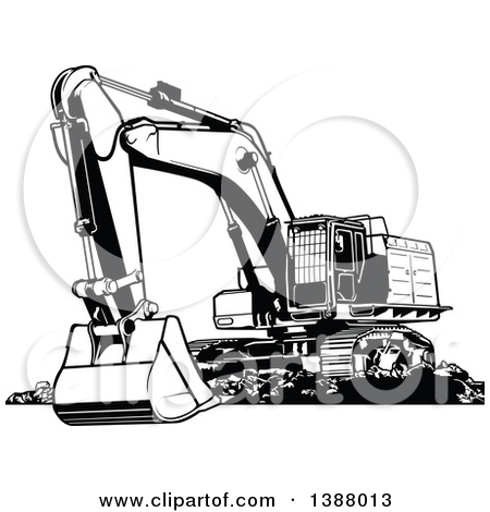 Similiar Excavator Clip Art Black And White Keywords.