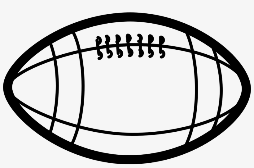 Football Ball Clipart Black And White PNG Image.