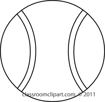 Tennis ball clipart black and white free 4.