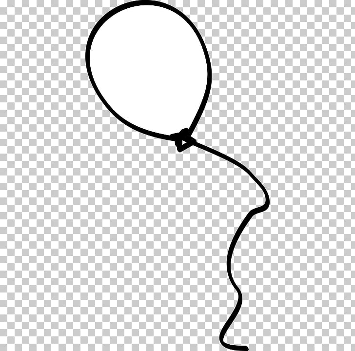 Black and white Balloon Drawing Birthday , balloon PNG clipart.
