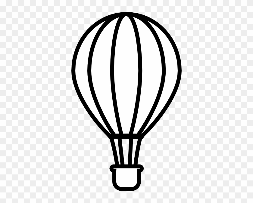Download Free png Hot Air Balloon Clipart Black And White Hot Air.
