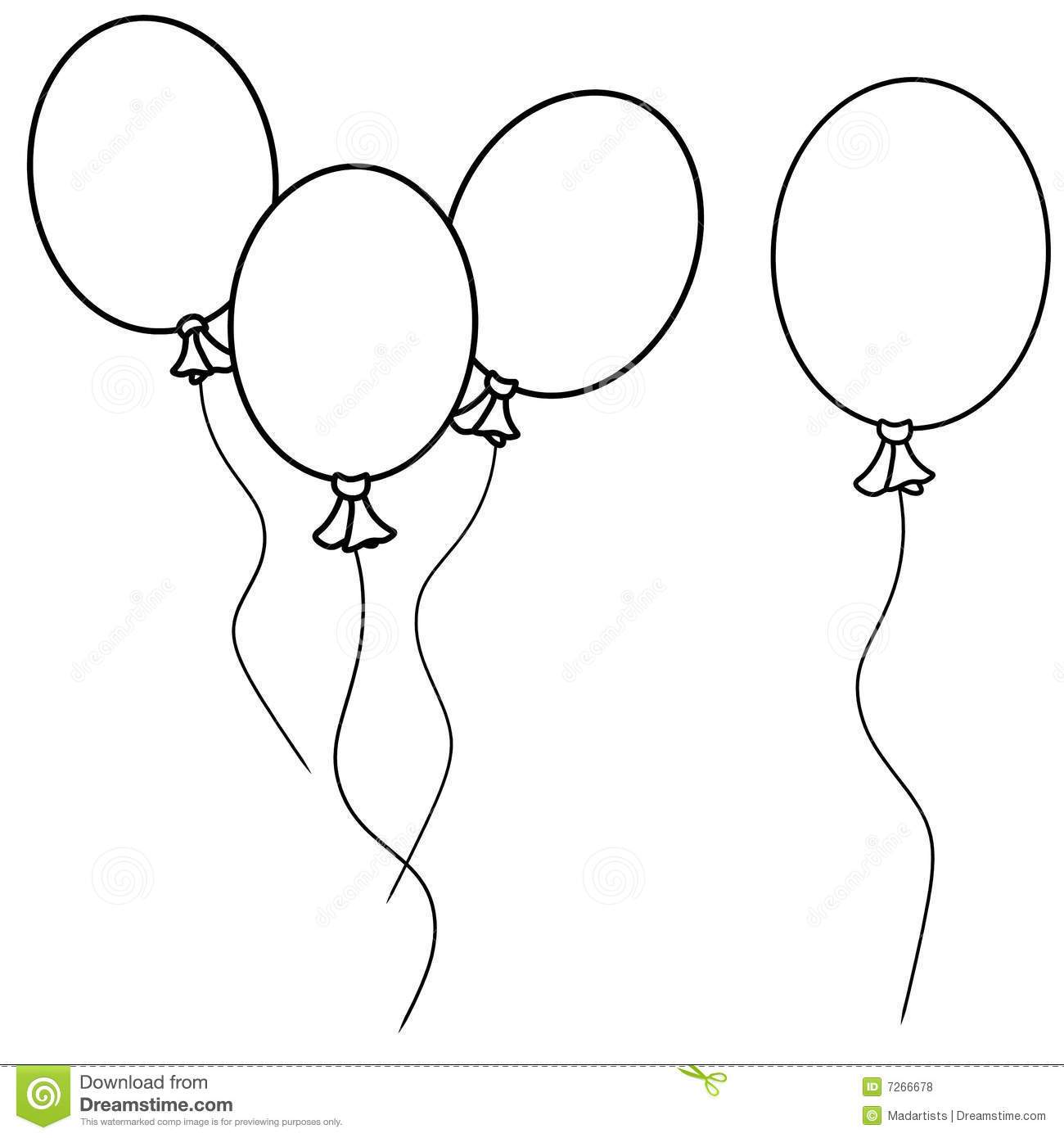 Black and white single balloon clipart 3 » Clipart Portal.