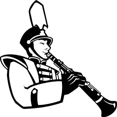 Pics For > Marching Band Clipart Black And White.