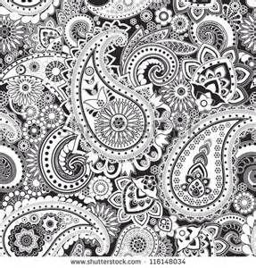 Bandana Pattern Clipart Black And White Seamless pattern.