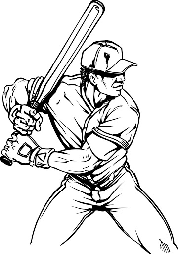 Black And White Baseball Player Clipart (101+ images in Collection.