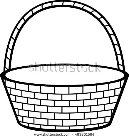 Empty Basket Clipart Black And White.