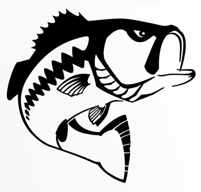 Black and White Bass Logo.