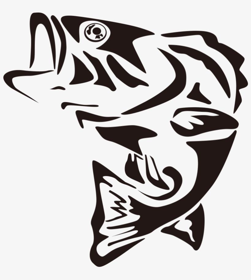 Largemouth Bass Fishing Clip Art.
