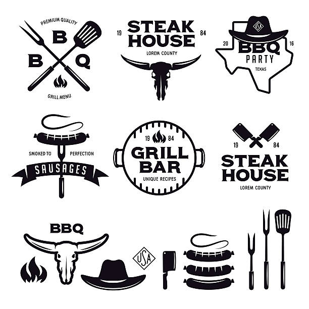 Best Barbecue Grill Illustrations, Royalty.