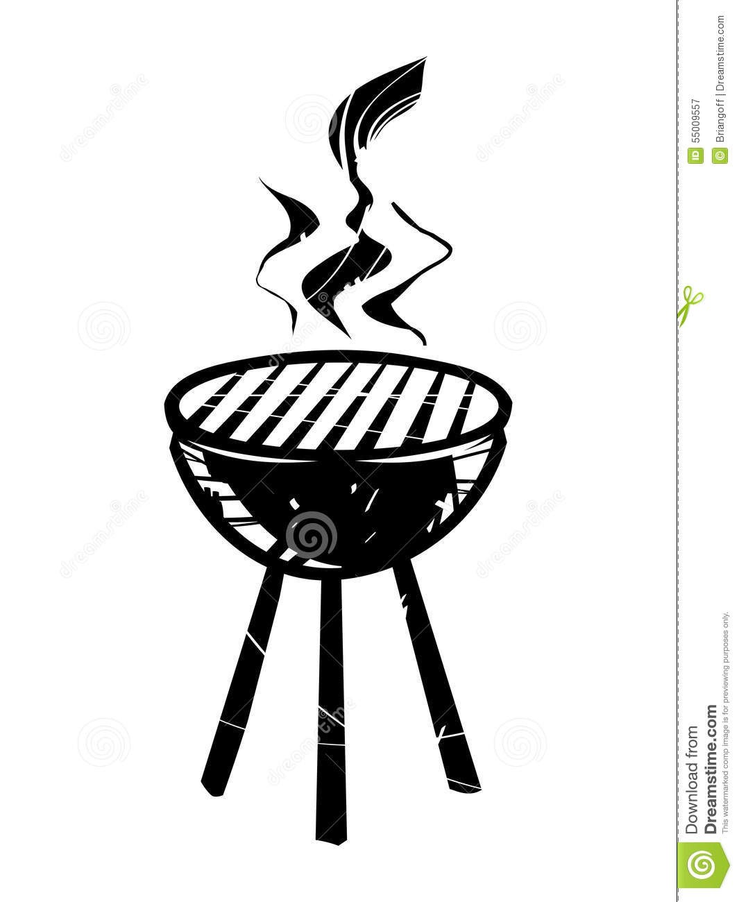 BBQ vector icon stock vector. Illustration of beef, poster.