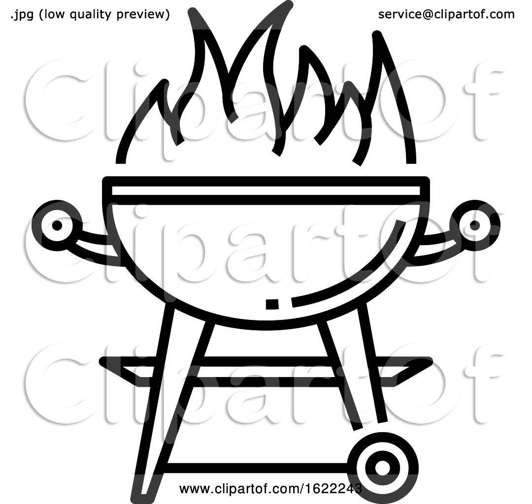 Black and White Bbq Icon by Vector Tradition SM #1622243.