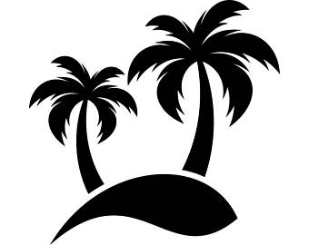 Palm Tree Black And White Clipart.