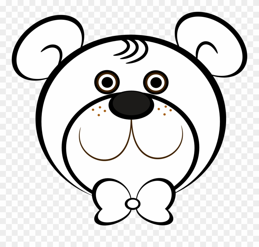 Bear Black And White White Bear Clipart.