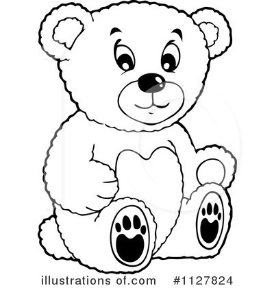 Black And White Clipart Bear.