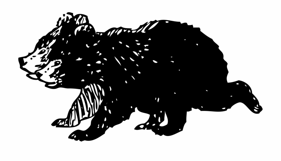 This Free Icons Png Design Of Black Bear Cubs.