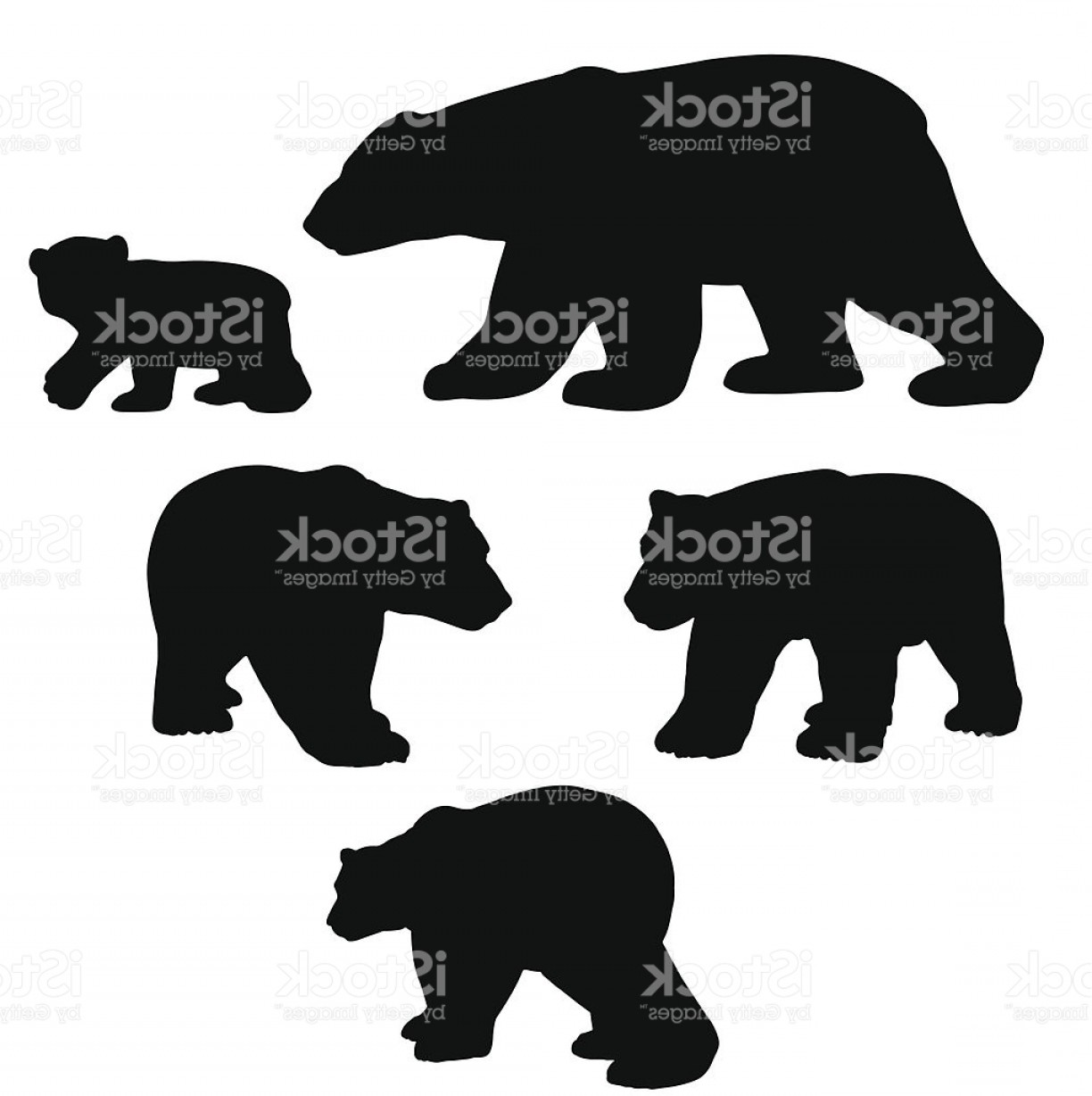 Huge Collection of 'Bear cub silhouette'. Download more than 40.